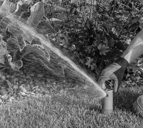 Mark is working on a sprinkler repair in San Jose